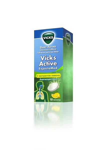 Vicks Active ЭкспектоМед и леденцы Vicks — фото 1