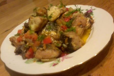 Пиленгас с овощами — фото 1